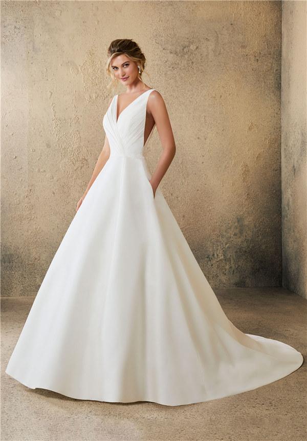 ウェディングドレス ウェディングドレス シンプル プリンセスライン サイズオーダー