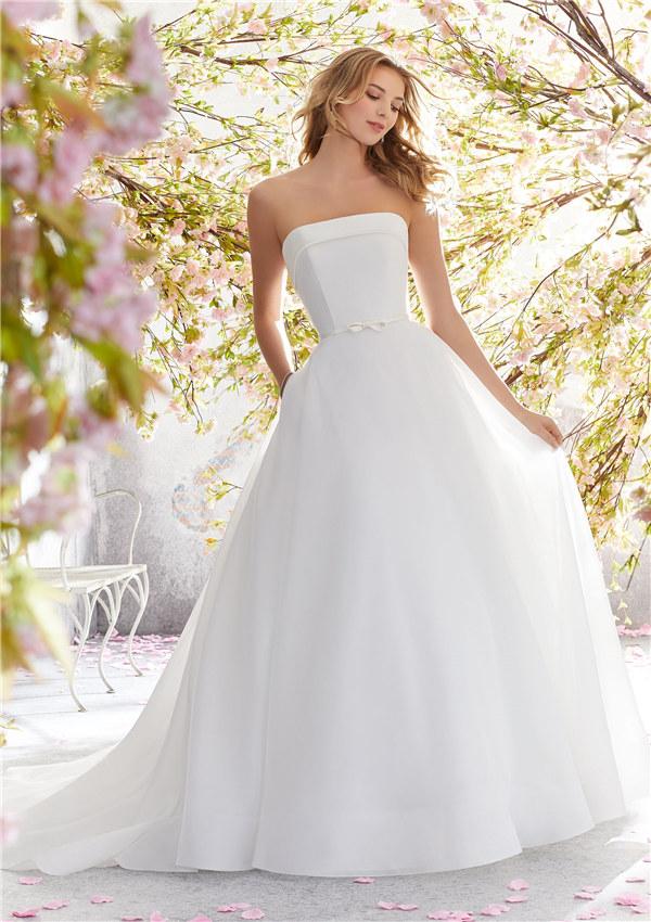 ウェディングドレス ウェディングドレス プリンセスライン シンプル シンプルドレス サイズオーダー