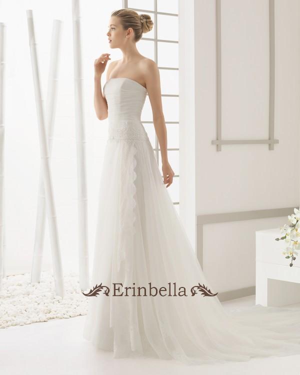 ウェディングドレス サイズオーダー スレンダーライン 花嫁 結婚式 二次会 披露宴 ブライダル 91113