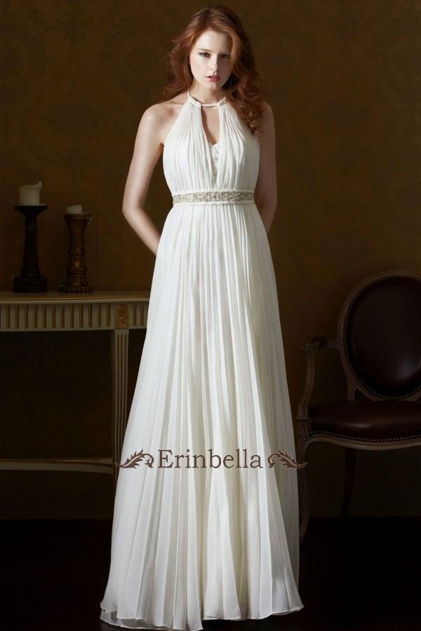 ウェディングドレス ウェディングドレス スレンダー ホルターネック SL058