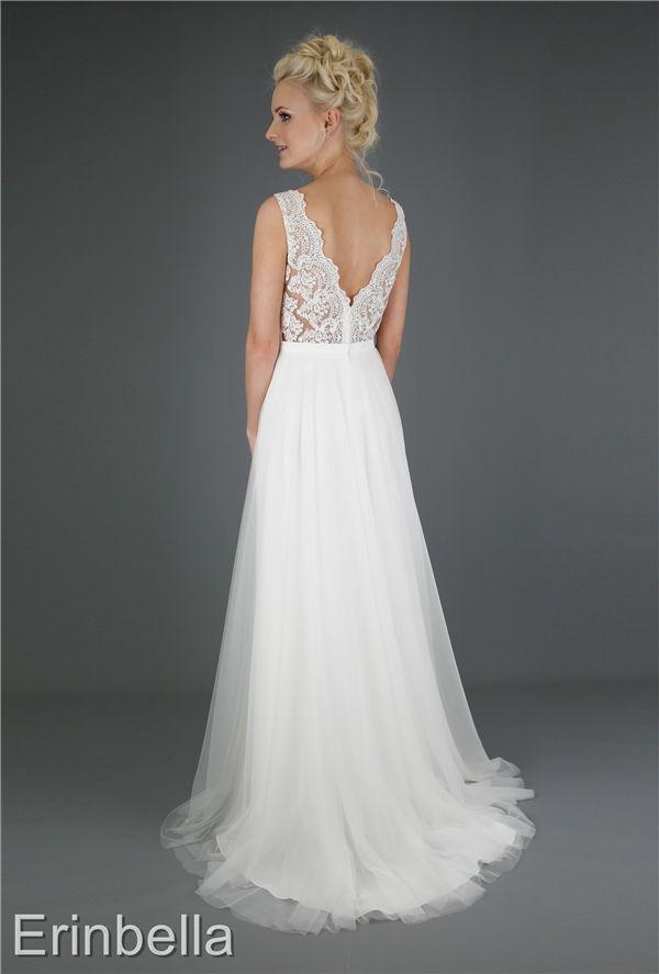Erinbella Wedding Dress Sheathcolumn V Neck Long Dresses Sl094