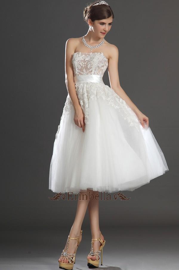 ミニ ショートドレス (TW0768) ウェディングドレス