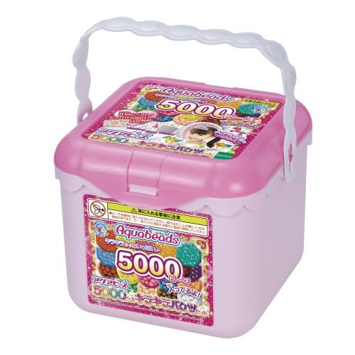 アクアビーズ AQ-S77 5000ビーズキラキラバケツセットおもちゃ こども セール品 子供 作る 6歳 女の子 2020 新作 ままごと ごっこ