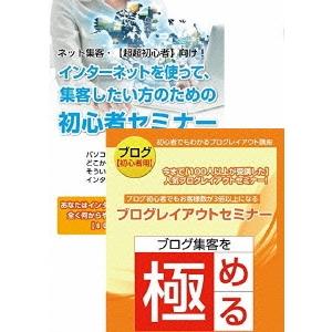 【送料無料】インターネット集客初心者から始めるブログ作成・更新セミナーDVDセット 【DVD】