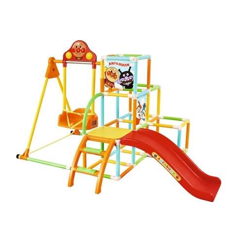 アンパンマン うちの子天才 レビューを書けば送料当店負担 カンタン折りたたみ ブランコパークDXおもちゃ こども 安全 子供 室内 勉強 遊具 知育 2歳