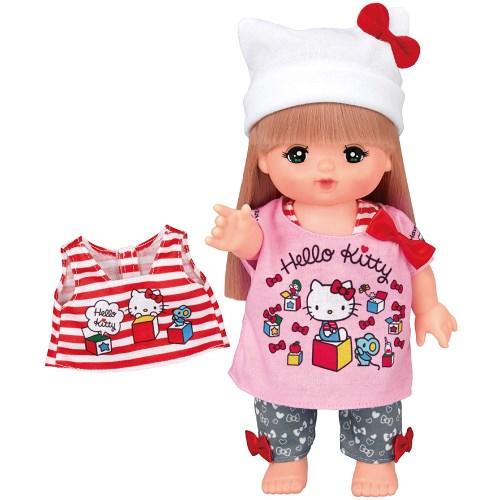販売 メルちゃん きせかえ ハローキティ 新作製品、世界最高品質人気! Tシャツワンピセットおもちゃ こども 女の子 3歳 子供 人形遊び 洋服