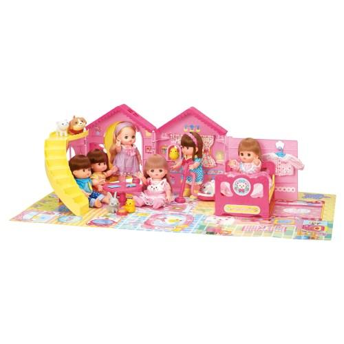 メルちゃん かいだんつきの なかよしハウスおもちゃ こども 子供 秀逸 信用 女の子 人形遊び 3歳 ハウス