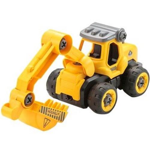 ◆26日以降お届け予定◆くみたてドライブ ショベルカー おもちゃ こども 子供 知育 勉強 3歳