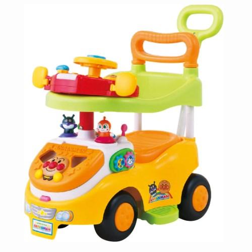 アンパンマン よくばりビジーカーDXFUN デラックスファン 押し棒 ガード付きおもちゃ NEW 子供 こども 勉強 知育 贈り物