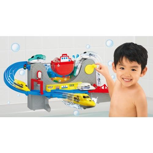 おふろDEミニカー すすめ!海底トンネル!北海道新幹線はやぶさ&ドクターイエローセット  おもちゃ こども 子供 知育 勉強 3歳