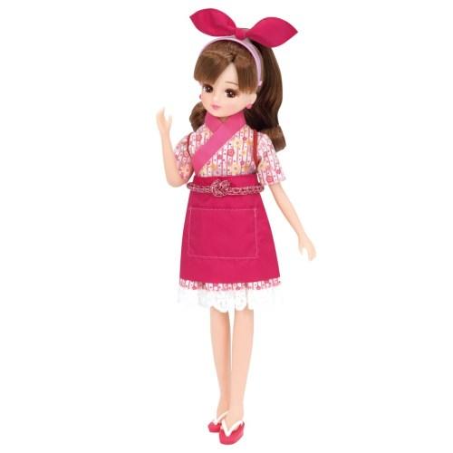 リカちゃんくるくる回転寿司 てんいんさんドレスおもちゃ こども 安い 子供 人形遊び 国内在庫 女の子 洋服