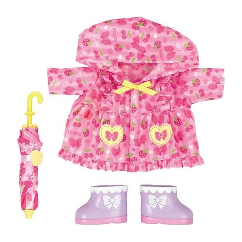 低廉 メルちゃん きせかえセット ピンクのレインコートセットおもちゃ こども 全品最安値に挑戦 子供 3歳 人形遊び 洋服 女の子