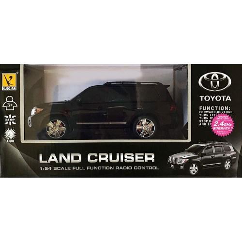 2.4GHz 大注目 1 24 RCカー No.4 トヨタ 子供 ランドクルーザー 黒おもちゃ 14歳 激安通販専門店 ラジコン こども