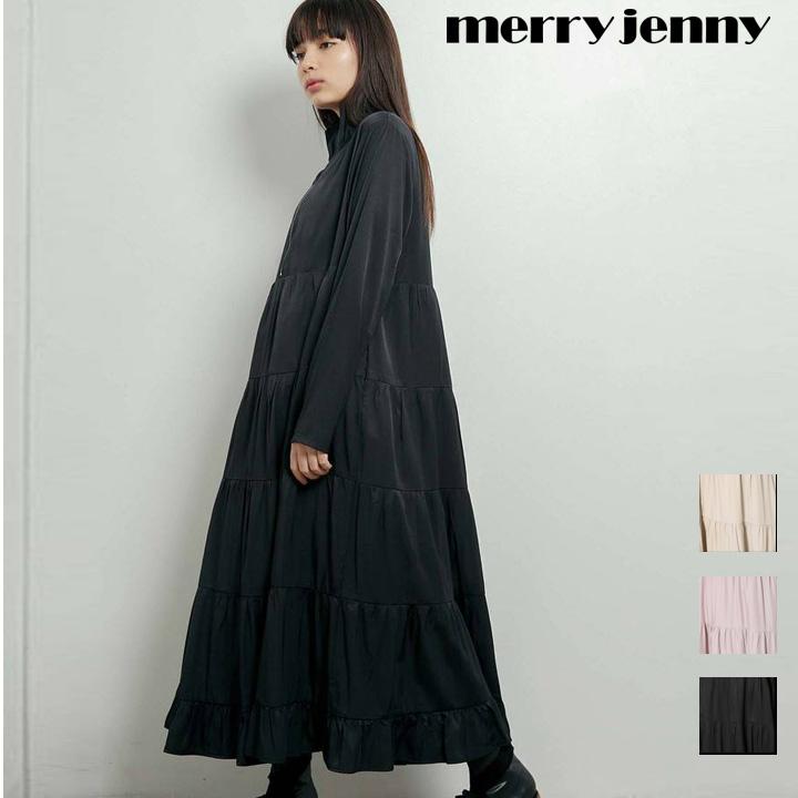 【送料無料】zipティアードワンピース【merry jenny / メリージェニー】