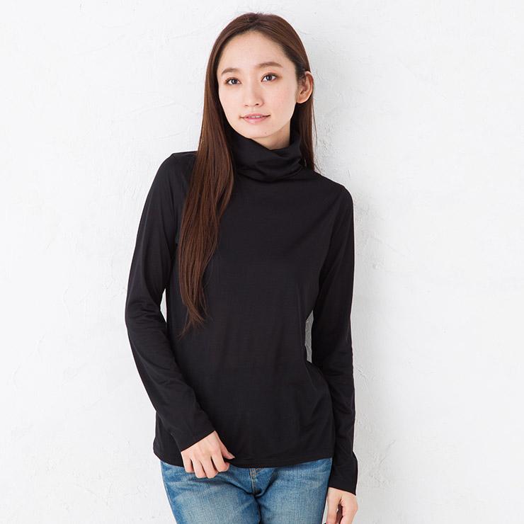 100% silk Jersey Sanya v-neck long sleeve-Japan