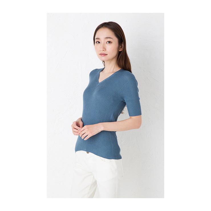 79561eb218a ES CREATION  Hall garment navy dark blue ブルーエクリュ M-L which ...