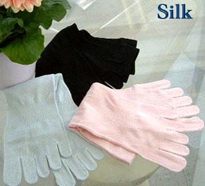 丝绸五手指袜子 3 脚套