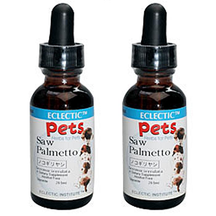 ノコギリヤシ ソウパルメット チンキ 液体 2オンス 59.2ml 2個セット ペット用ハーブサプリメント ECLECTIC for Pets エクレクティック