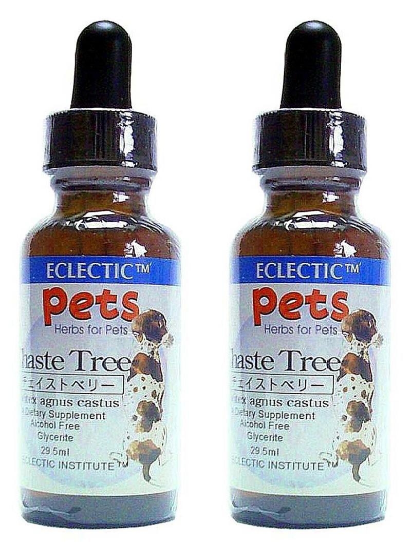 チェイストベリー チンキ 液体 1オンス 29.5ml 2個セット ペット用ハーブサプリメント ECLECTIC for Pets エクレクティック