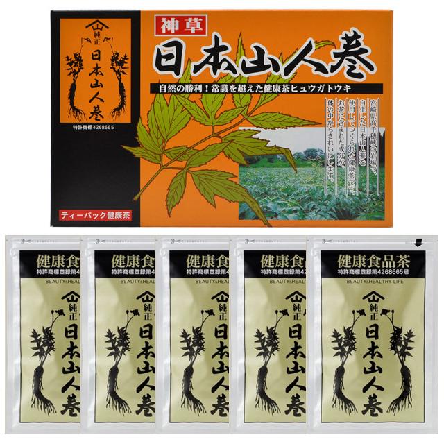 エレガントジャパン 健康食品茶 日本山人参茶 ティーパック 3g 15包×5袋(箱入)【P10】
