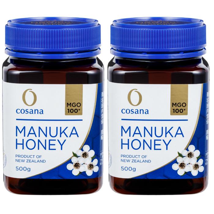 マヌカハニー MGO100+ 500g 2個セット cosana コサナ ニュージーランド産はちみつ