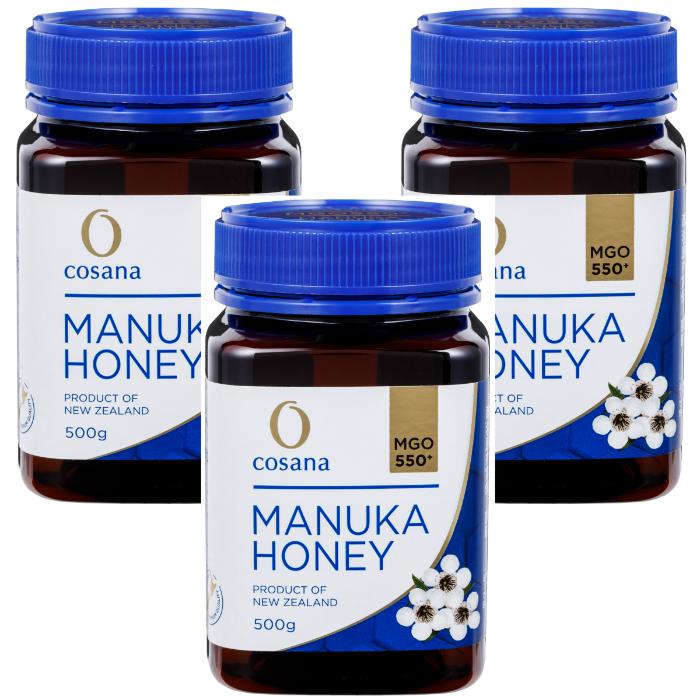 マヌカハニー MGO550+ 500g 3個セット cosana コサナ ニュージーランド産はちみつ