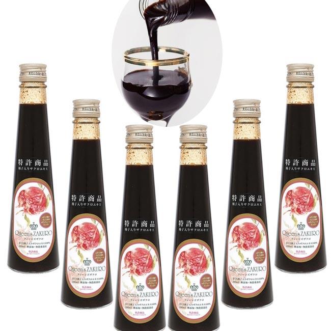 Queen's ZAKURO クィーンズザクロ 200ml 6本セット ザクロ種子入り ザクロジュース 濃縮タイプ
