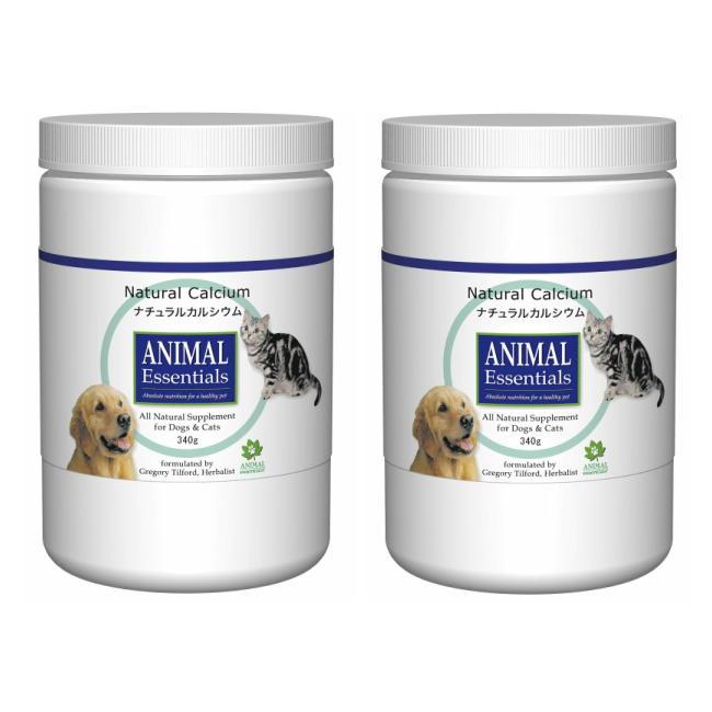 ナチュラルカルシウム 340g 2個セット ANIMAL Essentials アニマルエッセンシャルズ ペット用ハーブサプリメント