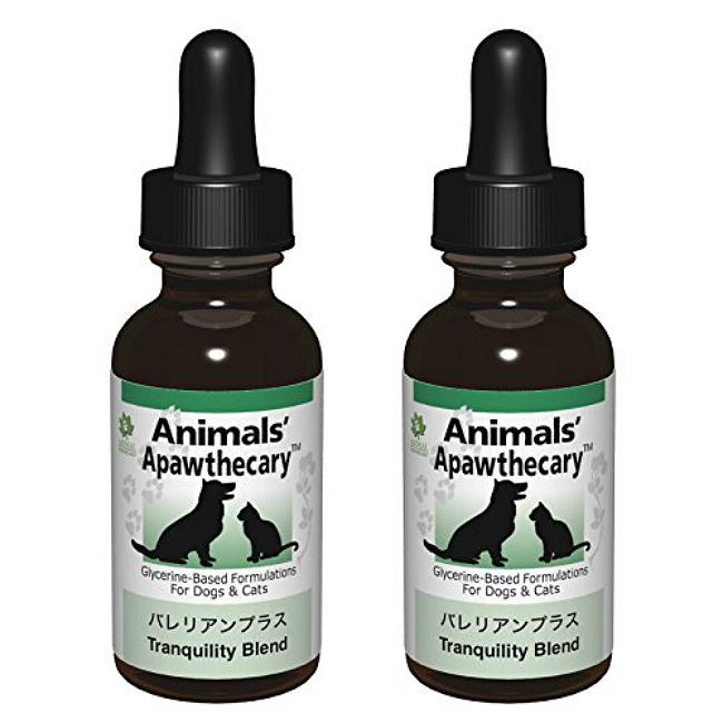 バレリアンプラス 1オンス 29.5ml 2個セット Animals' Apawthecary アニマルズアパスキャリー ペット用ハーブサプリメント