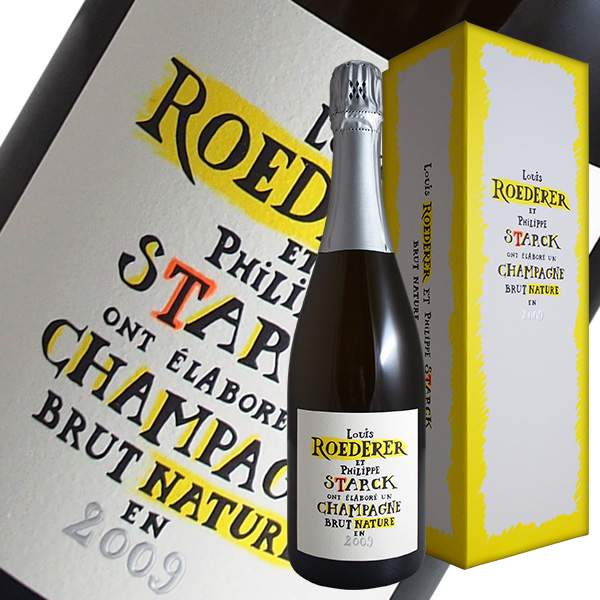 ブリュット ナチュール フィリップ スタルク ボトル[2009]ルイ ロデレール(シャンパン)【正規品】【ギフトボックス】