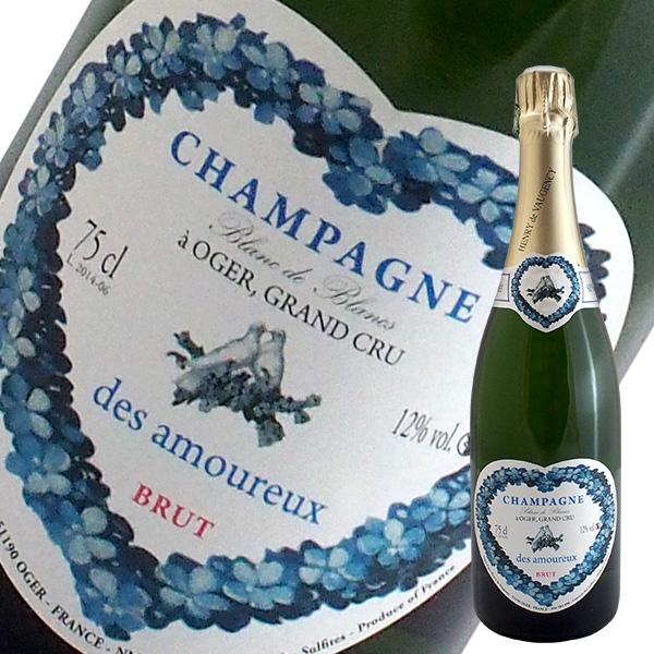 ハートラベル キュヴェ 誕生日プレゼント デ ザムルー ブラン ド グラン シャンパン N.V クリュ ヴォージャンシー ついに入荷 箱無し アンリ
