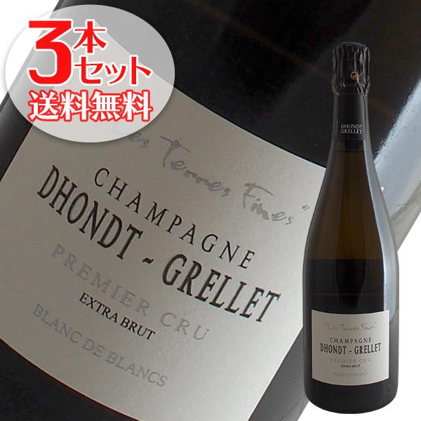 【送料無料】3本セット レ テール フィーヌ[N.V]ドント グルレ(シャンパン)