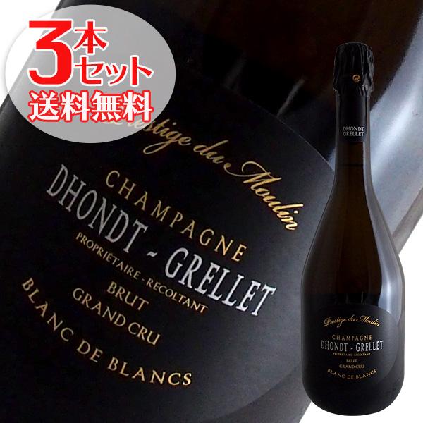 【送料無料】3本セット プレスティージュ デュ ムーラン[N.V]ドント グルレ(シャンパン)
