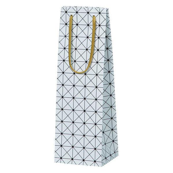 ギフト プレゼント ご褒美 紙袋 ラッピング ギフトボックスサイズ対応 白色 ワイン1本用紙袋 新色追加 格子柄