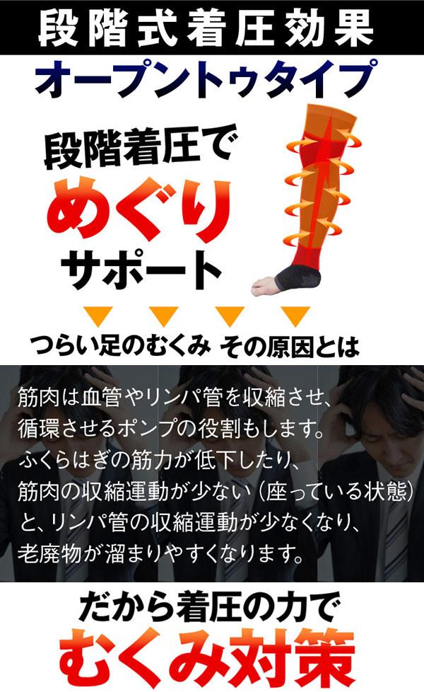 肿胀 (膝盖高五趾袜黑而无需类型) 的 RID 铃声压力袜子
