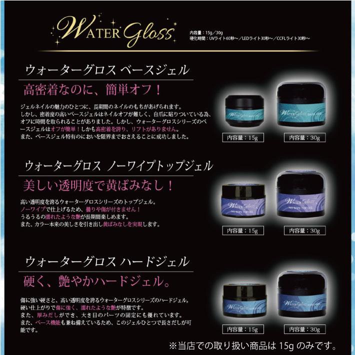 15 g of water gross non wipe top gel