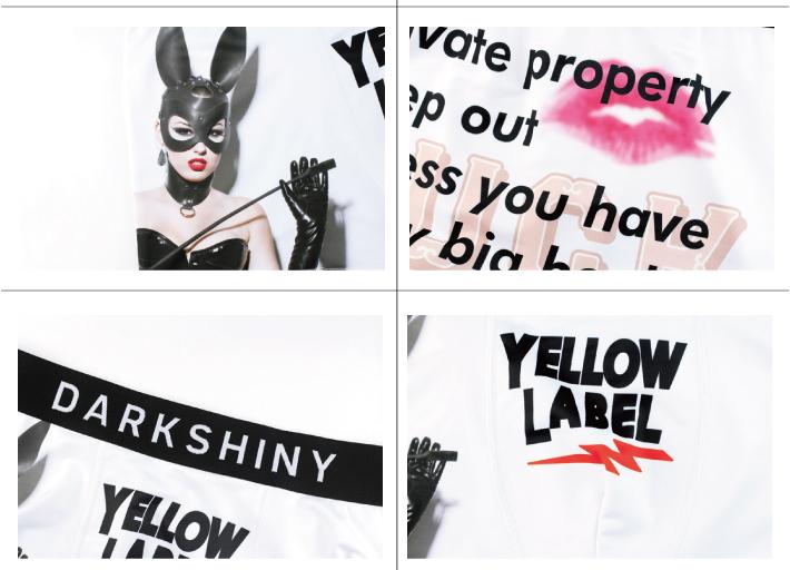 DARK SHINY dark shiny YLLB12 yellow label bunny girl men M
