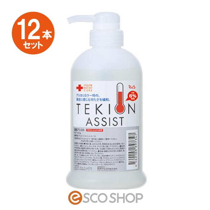 12本セット リックス 適温アシスト 600g(Ric's 業務用 カラー剤 冷たさ 解消 緩和)(送料無料)