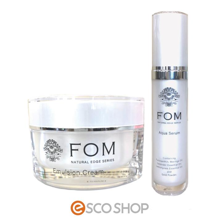 モリンガオイル FOM フォム アクアセラム50g + エマルジョンクリーム50g セット (ヒト幹細胞培養液 化粧品 日本 コスメ 化粧水 フコキサンチン エイジングケア)(送料無料)