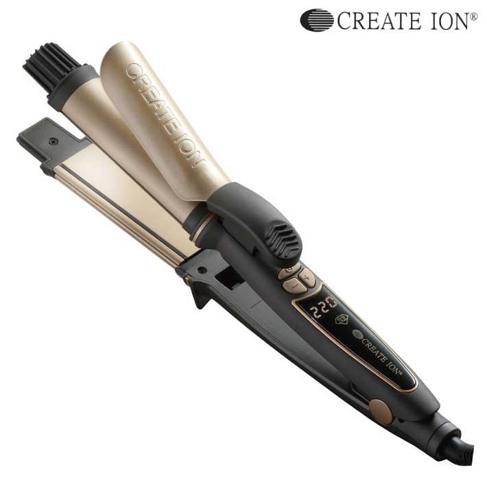 クレイツイオン ハイブリッド2WAY 32mm RCISC-G32HY (クレイツ ヘアアイロン カールアイロン ストレートアイロン コテ 海外対応 CREATE ION)(送料無料)