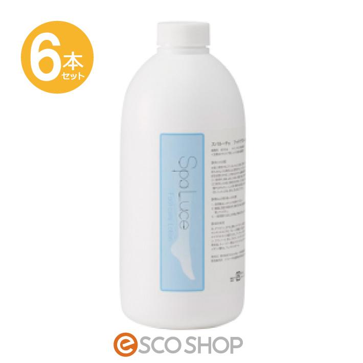 (6本セット)SpaLuce スパルーチェ フットケアローション 800ml 弱酸性(保湿 角質除去 ボディクリーム ピーリング かかとケア パラベンフリー ギフト プレゼント)(送料無料)