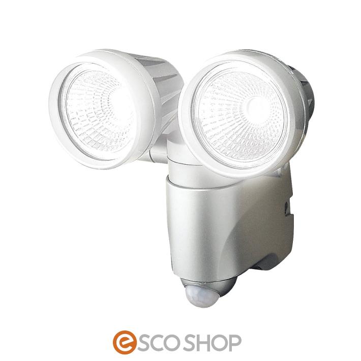 LEDセンサーライトダブル(SLT-6LWB)(送料無料)メーカー直送 代引不可 同梱不可