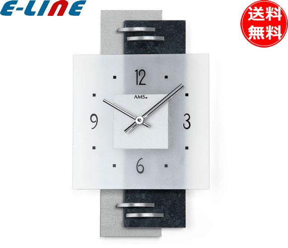 クォーツ壁掛け時計 おしゃれ ドイツ製 シンプル 22×36×5cm AMS 9245「送料無料」「smtb-F」