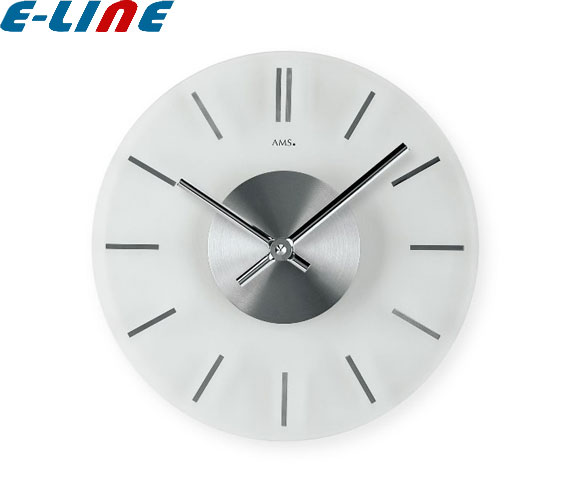 クォーツ壁掛け時計 おしゃれ ドイツ製 シンプル 丸型 D30×4cm 9318 AMS「送料1620円」