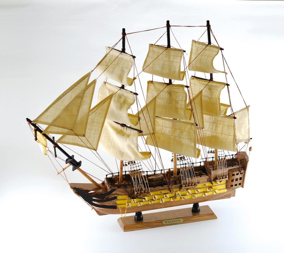 【直送品・代引き不可】【帆船模型】帆船 ヴィクトリー号 60cm 完成品