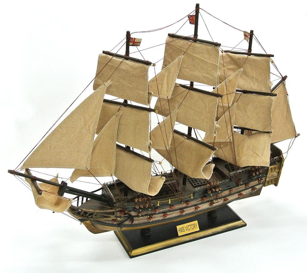 【直送品・代引き不可】【帆船模型】帆船 ヴィクトリー号 70cm 完成品