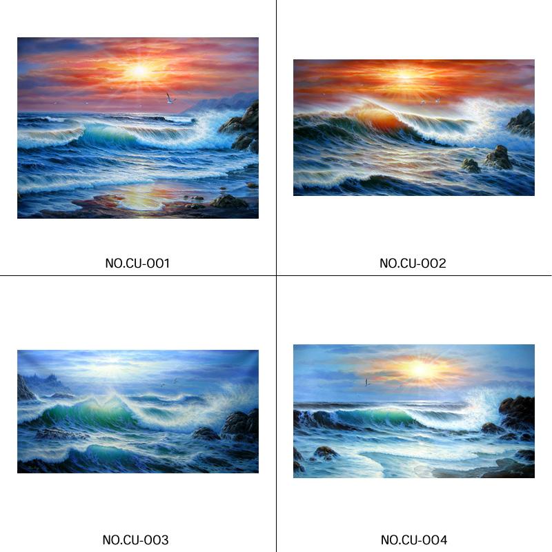 【送料無料】カタログからの油絵制作怒涛の海【F20号】