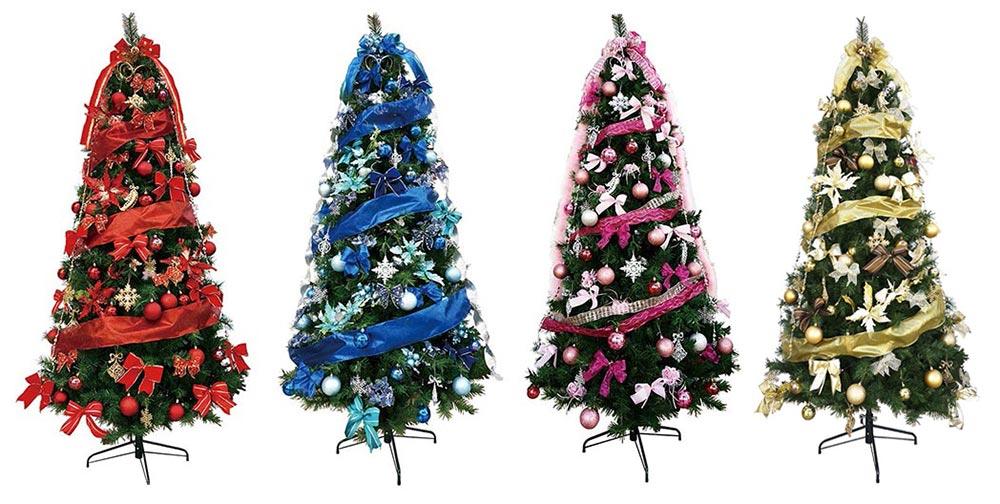 【店舗・イベント用品】【クリスマス】【ツリー・リース】240cmスリムツリーセット