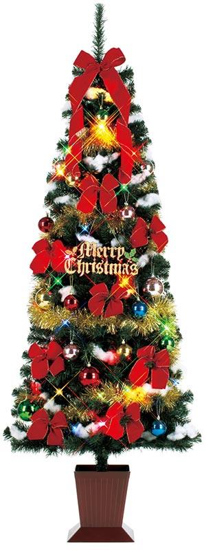 【店舗・イベント用品】【クリスマス】【ツリー・リース】セットツリーマルチ(四角ポット付)180cm