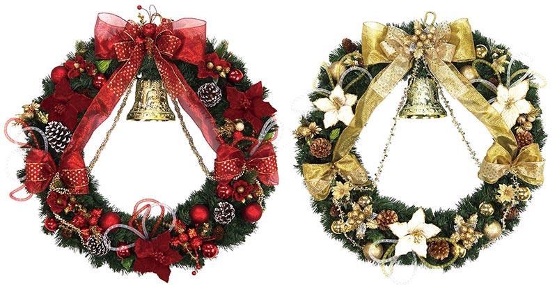 【店舗・イベント用品】【クリスマス】【ツリー・リース】80cmエダリース・ベル